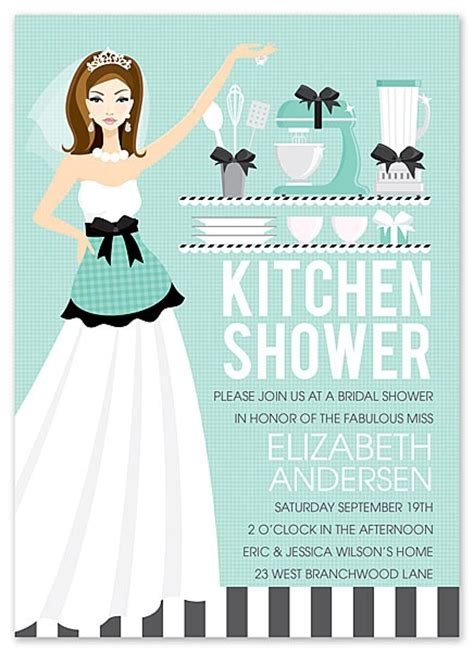 Bridal Kitchen Shower Invitations - kitchen themed bridal shower invitations and printables