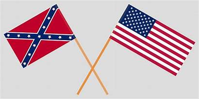 Flags Civil Crossed War North Vector South