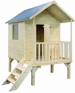 Maison Pour Enfant En Bois : maisonnette enfant kangourou pilotis ~ Premium-room.com Idées de Décoration