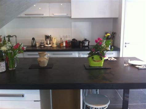 rénovation plan de travail cuisine béton ciré béton ciré maçonnerie martine ozeville manche