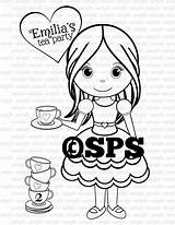 Tea Printable Coloring Personalized Birthday Favor Pdf Childrens Activity sketch template