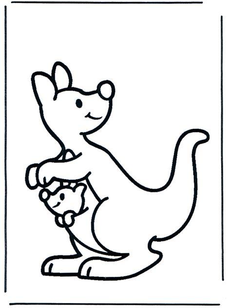 kangaroo coloring pages coloringpagescom