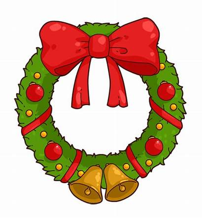 Wreath Clip Christmas Cartoon Clipart Wreaths Holiday