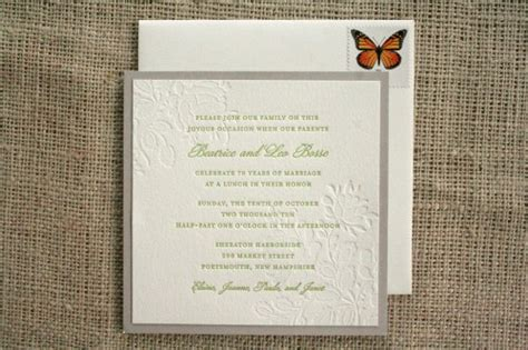 Th Wedding  Ee  Anniversary Ee   Invitations
