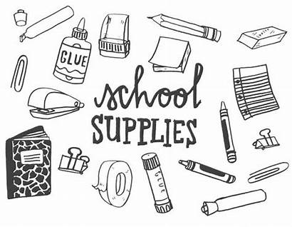 Supplies Coloring Pages Printable Adults