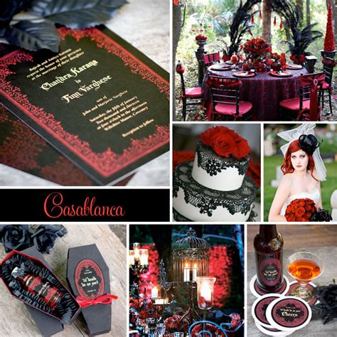 wedding inspiration casablanca goth inspired wedding