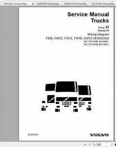 Volvo Fh Nh Truck Wiring Diagram Service November 1998