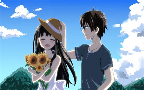 anime like hyouka with more romance garden day wallpaper and background image 1680x1050 id