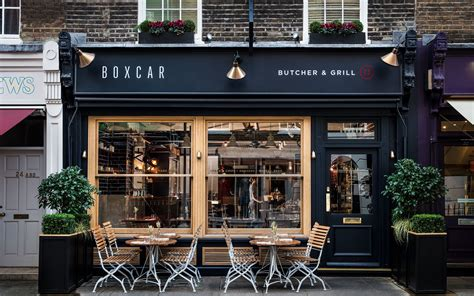 Forget starbucks and dunkin' donuts. Boxcar - Marble Arch - Meat   Coffee shop, Restaurant, London restaurants
