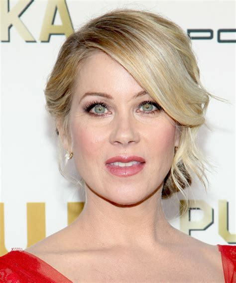Christina Applegate Straight Formal Updo Hairstyle   Light