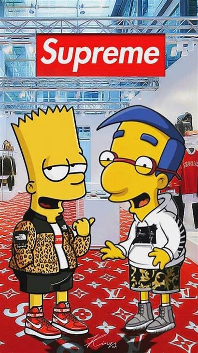 Supreme Cat Simpson Iphone Bart Wallpapers Suprime