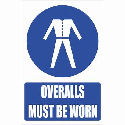 Safety Sign Overalls Explanatory Signs Mandatory