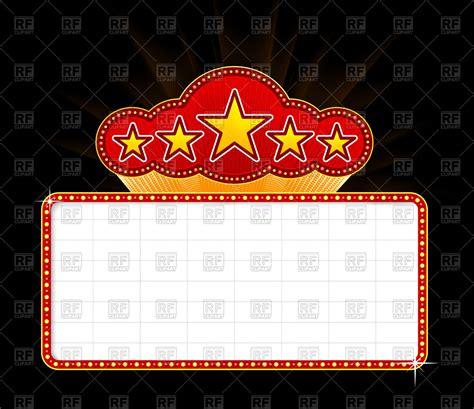 Movie Billboard Clip Art blank  theater  casino marquee vector image 1200 x 1037 · jpeg