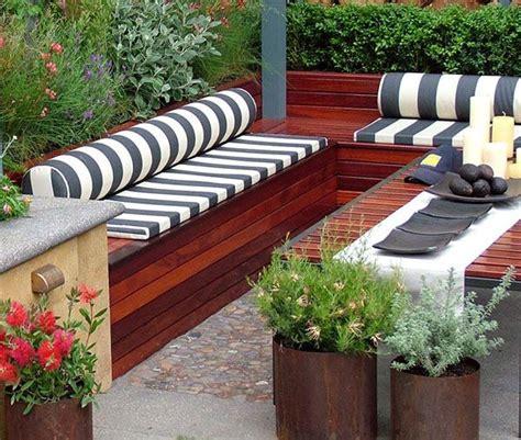 deck bench  storage idee deco terrasse coffre de