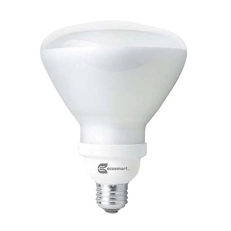 ecosmart light bulbs ecosmart 120w equivalent soft white br40 cfl light bulb 2