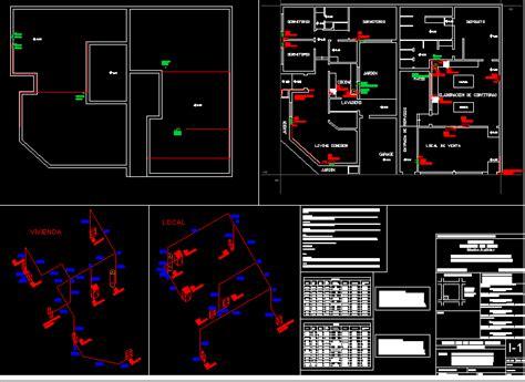 plano gas vivienda en autocad descargar cad  kb