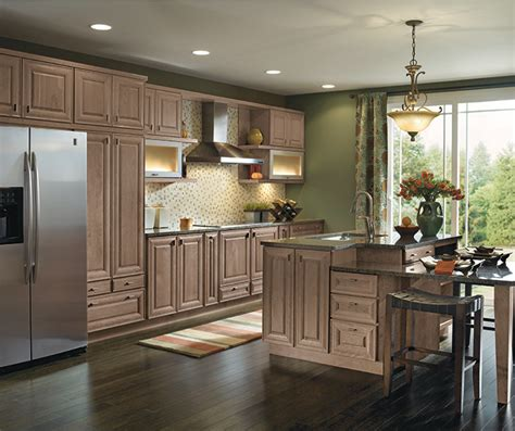 Light Cherry Cabinets In A Galley Kitchen  Masterbrand