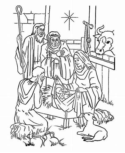 Jesus Coloring Nativity Bethlehem Star Pages Christmas