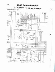 1983 Fleetwood Pace Arrow Owners Manuals  Wireing Diagram 83 Gm Van Front Section  U0026 Hi