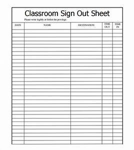 sample sign out sheet template 8 free documents With sign in and out log template