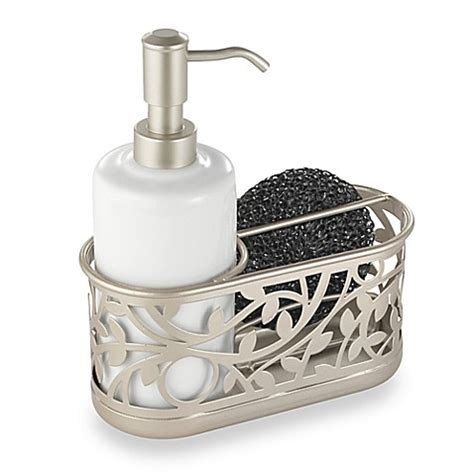 sponge caddy for sink interdesign vine kitchen sink soap dispenser pump and