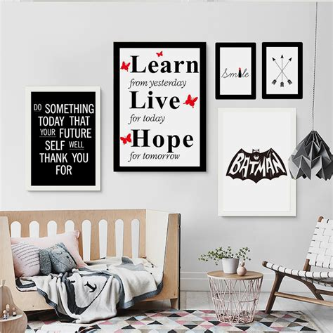 haochu nordic minimalist typography print inspirational quotes poster wall pictures canvas