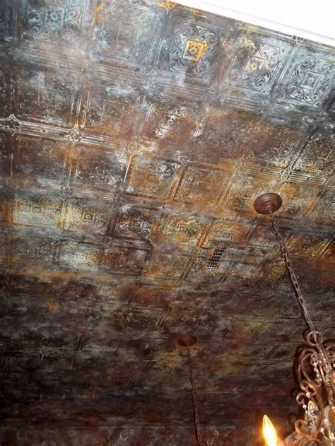 aged tin ceiling wallpaper metal paint