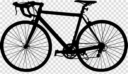 Bike Bicycle Clipart Road Silhouette Frame Transparent