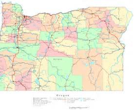 Oregon Printable Map Oregon