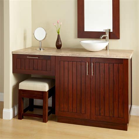 bathroom cabinets with makeup vanity wood vanities signature hardware