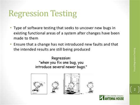 Automated Visual Regression Testing