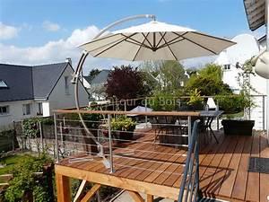 terrasse bois suspendue sur pilotis et balcons bois a With faire terrasse sur pilotis