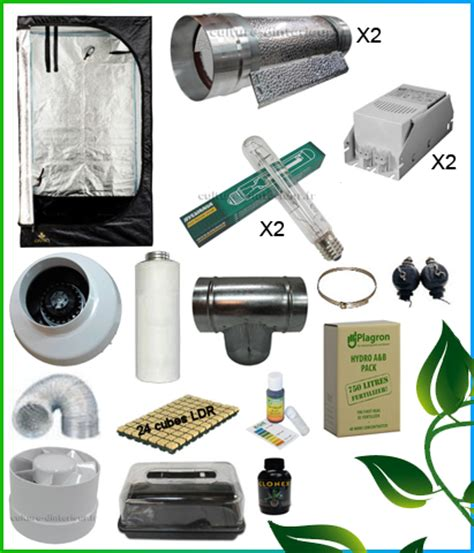 kit complet 2x400w cooltube box 150 557 10 growshop
