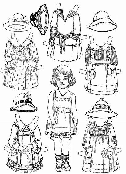 Coloring Doll Paper Pages Printable