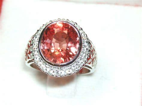 ring with pink orange padparadscha sapphire gemstone 7 10ct catawiki