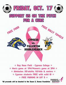 Soccer Teams to Raise Awareness, Funds for Breast Cancer ...