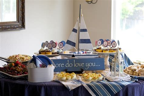 Ideas Nautical Theme by Nautical Baby Shower Decorations Best Baby Decoration