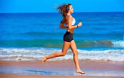 Running Feet Jogging Training Beach Barefoot Beauty