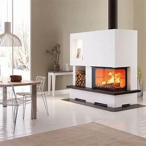Cheminée à Foyer Ouvert : cheminee foyer semi ouvert ~ Premium-room.com Idées de Décoration