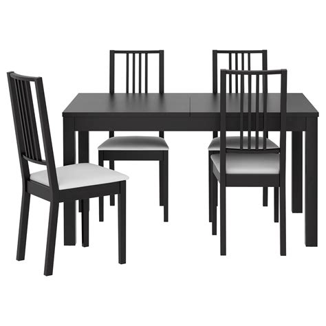 bjurstaboerje table   chairs brown blackgobo white
