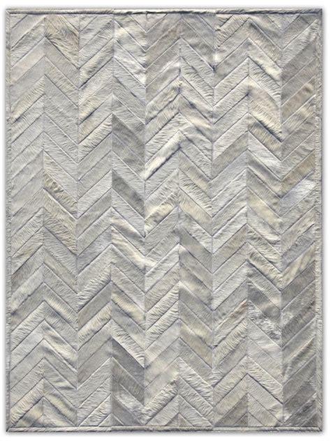 Cowhide Pattern Rug by Herringbone Patchwork Cowhide Rug Gorgeous Textiles