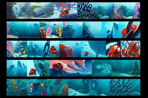 color key finding nemo storyboard color key pastels pixar
