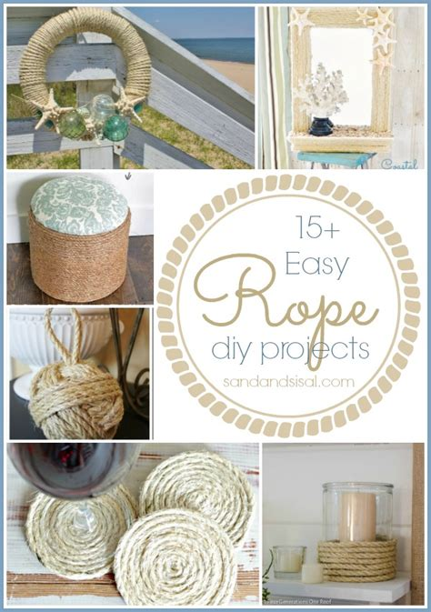 easy rope crafts sand  sisal