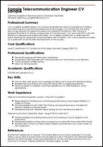 resume for telecom engineer experience sle telecommunication engineer cv sle myperfectcv