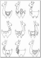 Llamas Lamas Llama Ausmalbilder Alpaka Slack Relieve Malen Alpacas Bastelvorlagen Alpaga Grundschüler 5x11 Kika Igel Loup Maniacs Anleitung Downloaden Uitprinten sketch template