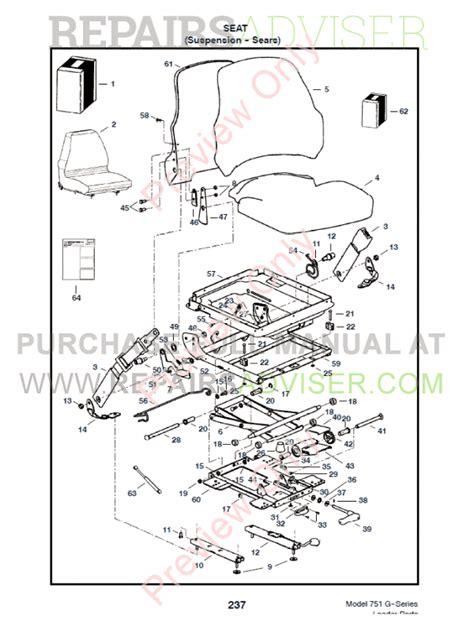 Bobcat 863 Part Diagram by Bobcat 751 G Series Skid Steer Loader Parts Manual Pdf