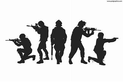 Soldiers Silhouettes Vector Psdgraphics Vectors