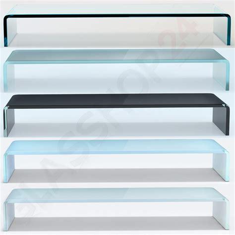 tv tisch glas tv glasaufsatz glas tisch tv aufsatz monitor erh 246 hung lcd glasb 252 hne podest 90cm ebay