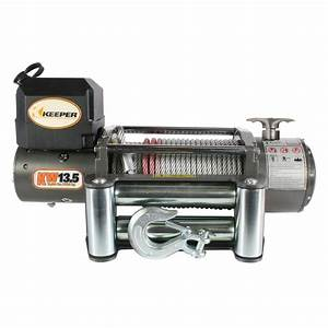 Keeper 13 500 Lbs  Utility Winch 12vdc With Wireless