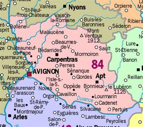 Carte De Avignon 84 by Carte Et D 233 Partement Du Vaucluse 84